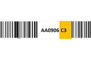 Magnetic rack barcode with check digit barcode