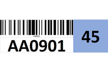 Load image into Gallery viewer, Magnetic rack barcode with check digit - right side