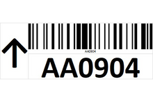 Load image into Gallery viewer, Magnetic rack barcode with guiding arrow - left side