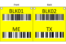 Load image into Gallery viewer, Hanging sign with barcode and check digit with different sides