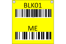 Load image into Gallery viewer, Hanging sign with barcode and check digit - two sided
