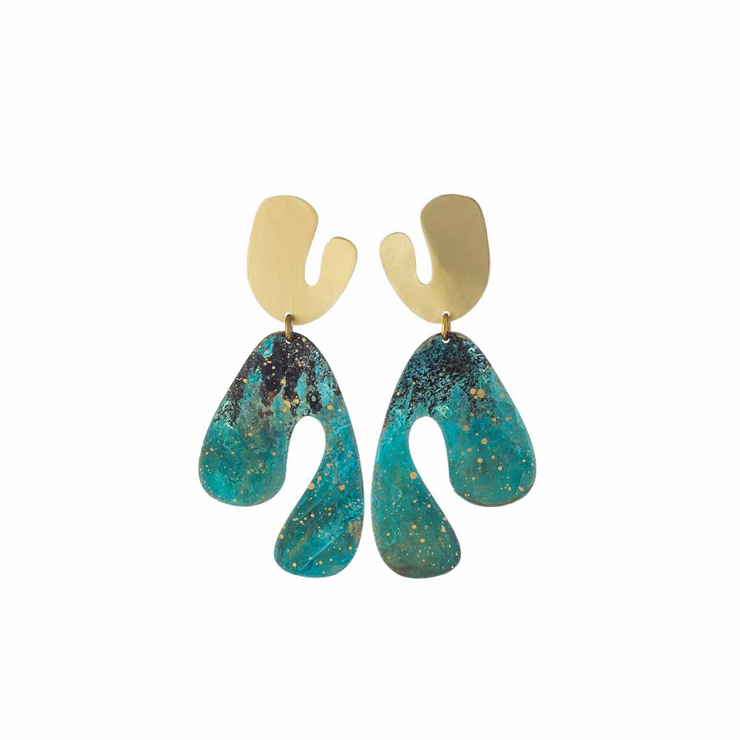 Fauvism Large Forrest Earrings
