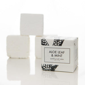 Sparkling Bath Tablet - Aloe Leaf and Mint