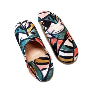 Babouche Slippers - Picasso Print