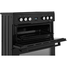 Load image into Gallery viewer, Beko EDC633K Black Double Oven Ceramic Hob Electric Cooker