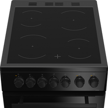 Load image into Gallery viewer, Beko EDVC503B 50cm Double Oven Electric Cooker with Ceramic Hob - Black - A Energy Rated