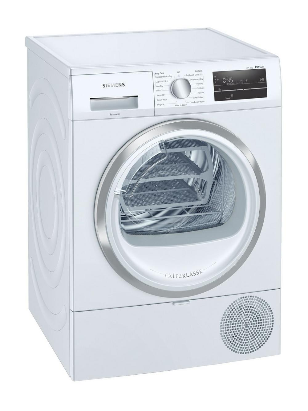 Siemens WT47RT90GB 9kg iQ500 Heat Pump Tumble Dryer - White - A++ Energy