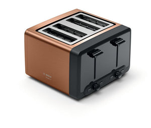 Bosch TAT4P449GB 4 Slice Toaster - Copper