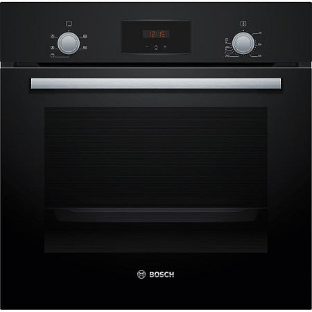 Bosch HHF113BA0B 60cm Built-In Single Electric Oven In Black