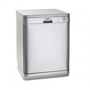 Montpellier DW1254S Silver Freestanding Full Size Dishwasher
