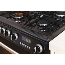 Load image into Gallery viewer, Hotpoint CH60GCIK Black Gas 60cm Double Oven Cooker