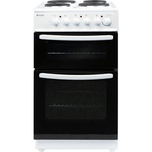 Haden HEST50W White 50cm Twin Cavity Oven/Grill Cooker