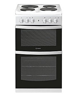 Indesit ID5E92KMW White 50cm Twin Cavity Electric Cooker