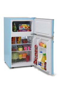Montpellier MAB2031PB Pastel Blue Retro Look Under Counter Frigde Freezer # 2 Year Guarantee