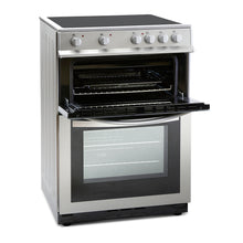 Load image into Gallery viewer, Montpellier MDC600FS Silver 60cm Double Oven Cooker