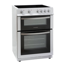 Load image into Gallery viewer, Montpellier MDC600FW White 60cm Double Oven Cooker