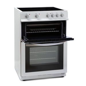 Montpellier MDC600FW White 60cm Double Oven Cooker