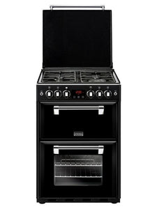 Stoves Richmond 600DF Blk Black 60cm Dual Fuel Mini Range Cooker