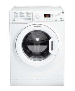 Hotpoint WDPG8640P White 8kg Load Triple A Rated Washer/Dryer.