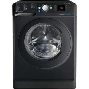 Indesit BDE861483XK Black 8Kg Wash 6Kg Dry 1400 Spin Washer Dryer