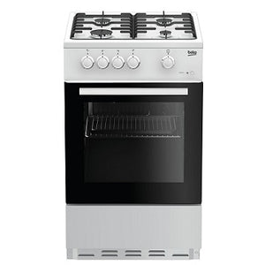 Beko ESG50W White Single Oven/Grill 4 Burner Hob Gas Cooker