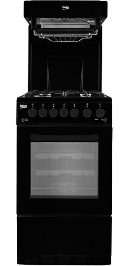 Beko KA52NEK Black Eye Level Grill Gas Cooker