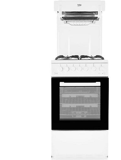 Beko KA52NEW White Eye Level Grill Gas Cooker