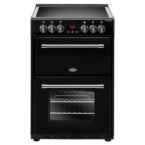 Belling Farmhouse 60E Blk Black Electric Double Oven Cooker. 444444711