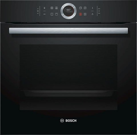 Bosch HBG634BB1 Black 4D Hot Air Fan Assisted Single Oven