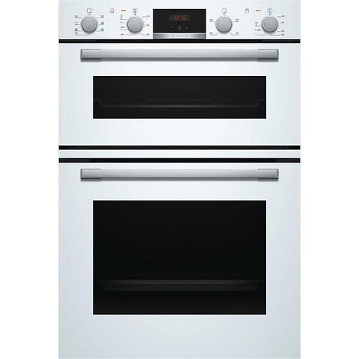 Bosch MBS533BW0B White 3D Hot Air Fan Assisted Built In Double Oven.