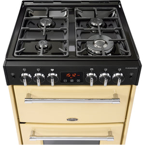 Belling Farmhouse 60G Cream Gas Double Oven Cooker