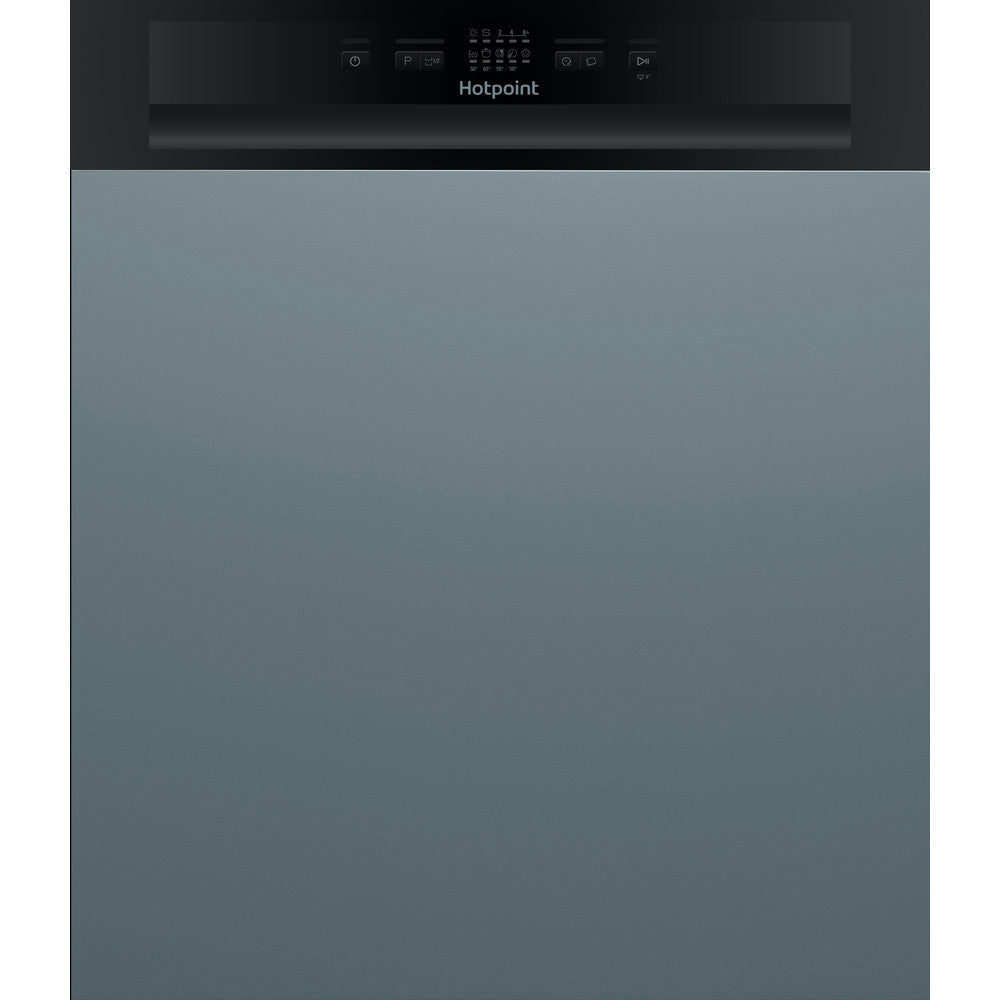 Hotpoint Aquarius HBC2B19 Black Semi-Integrated Dishwasher
