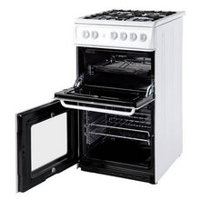 Load image into Gallery viewer, Hotpoint HD5G00KCW White 50cm Twin Cavity Oven Grill Gas Cooker