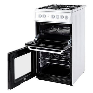 Hotpoint HD5G00KCW White 50cm Twin Cavity Oven Grill Gas Cooker
