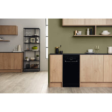 Load image into Gallery viewer, Hotpoint HSFE1B19B Slimline Aquarius Dishwasher in Black