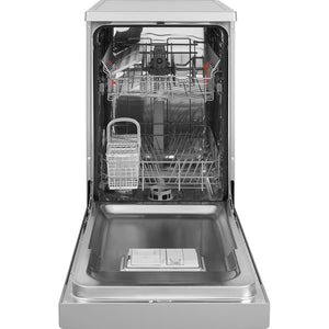 Hotpoint HSFE1B19S Slimline Aquarius Dishwasher in Silver