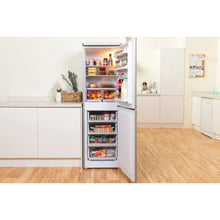 Load image into Gallery viewer, Indesit IBD5517S Silver 55cm Low Frost Fridge Freezer