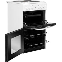 Load image into Gallery viewer, Indesit ID5E92KMW White 50cm Twin Cavity Electric Cooker