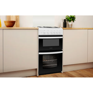 Indesit Cloe ID5G00KMW/L  White Twin Cavity Gas Cooker