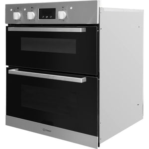 Indesit Aria IDU6340IX Electric Built-under Oven in Stainless Steel and Black