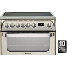 Load image into Gallery viewer, Hotpoint HUE61XS 60cm ULTIMA Electric Cooker in St/Steel, Double Oven