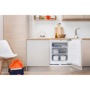 Indesit IZA1.1 60cm Built Under Integrated Freezer, 0.82m 91L A+