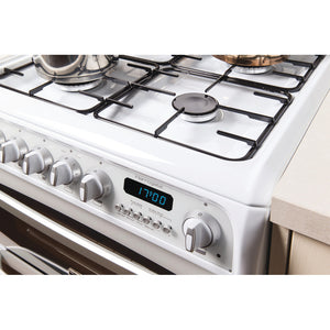 Hotpoint CH60GCIW White Gas 60cm Double Oven Cooker