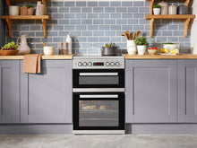 Load image into Gallery viewer, Beko KDC653S Silver 60cm Eelctric Double Oven Cooker