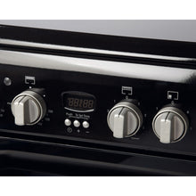 Load image into Gallery viewer, Indesit ID60C2K Black 60cm Double Oven Electric Cooker