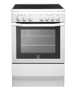 Indesit I6VV2AW White Ceramic Hob Single Fan Oven/Grill Cooker