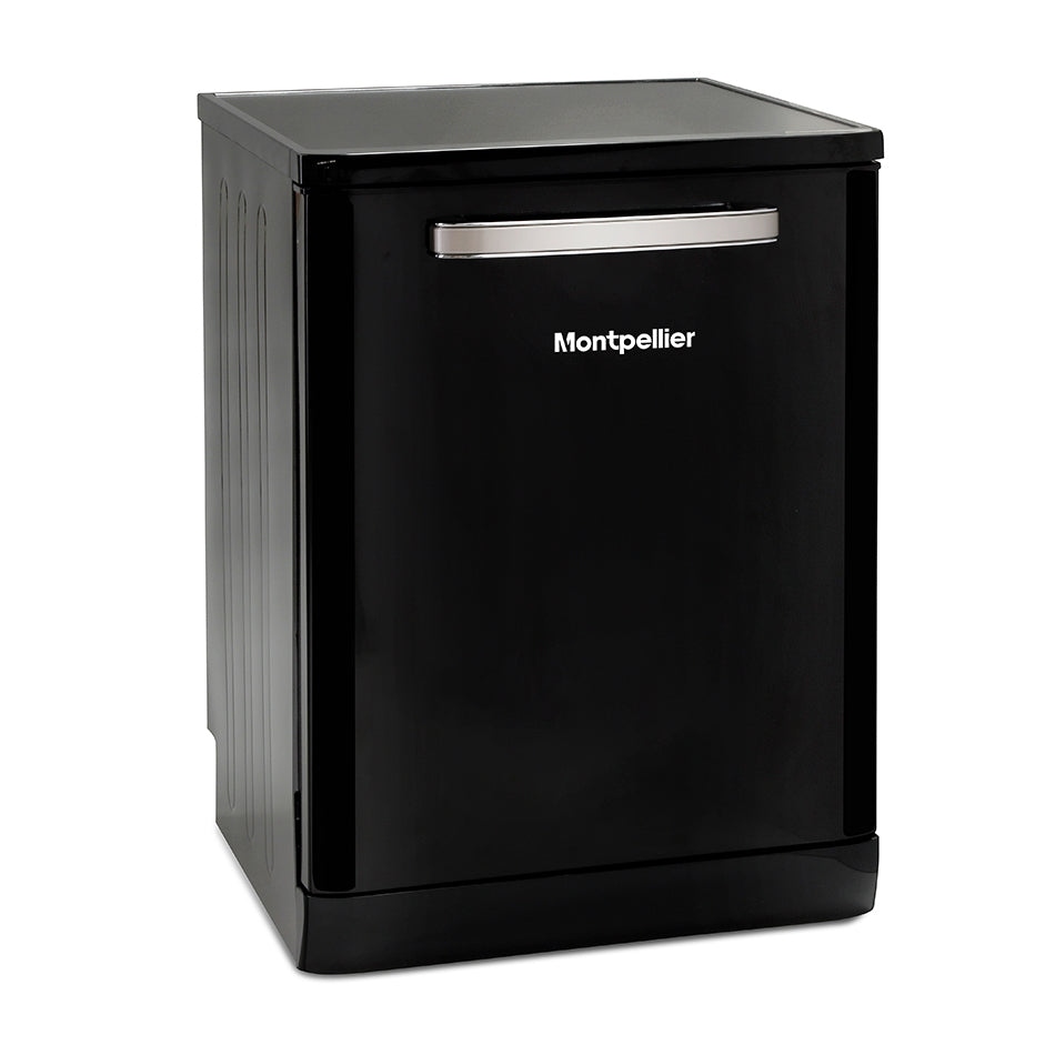 Montpellier MAB600K Black Retro Look 15 Place Dishwasher