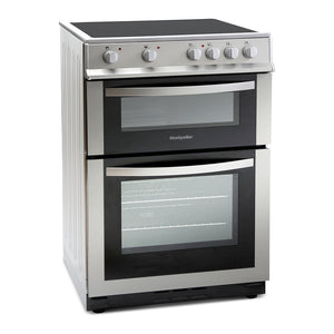 Montpellier MDC600FS Silver 60cm Double Oven Cooker