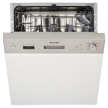 Montpellier MDI650X Stainless Steel Semi Integrated Full Size Dishwasher