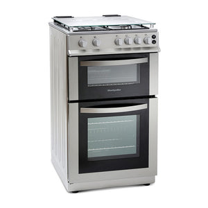 Montpellier MDG500LS Siver 50cm Gas Double Oven Cooker